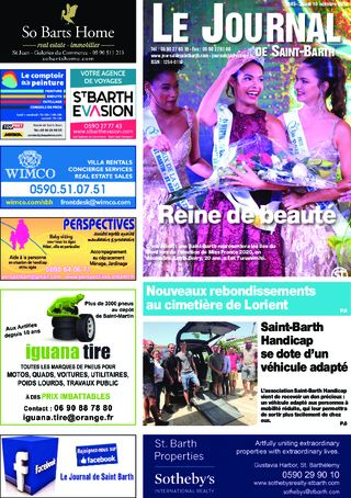 Journal de Saint-Barth N°1345 du 10/10/2019