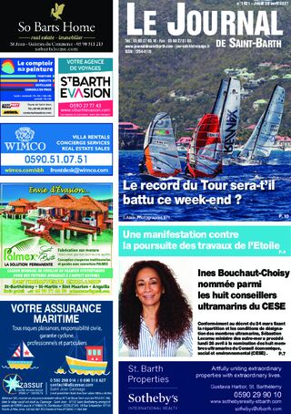 Journal de Saint-Barth N°1421 du 29/04/2021