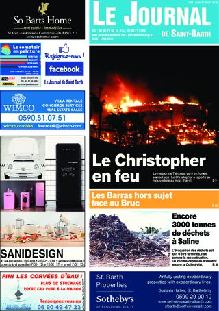 Journal de Saint-Barth N°1267 du 22/02/2018