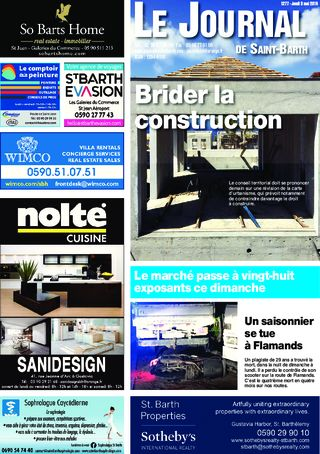 Journal de Saint-Barth N°1277 du 03/05/2018