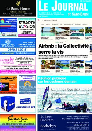 Journal de Saint-Barth N°1285 du 28/06/2018