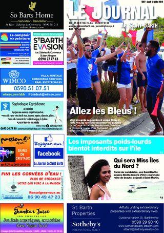 Allez les Bleus / Camions interdits / Miss Iles du Nord / Sylvie Feucher nouvelle préfète - 1287 du 12/07/2018