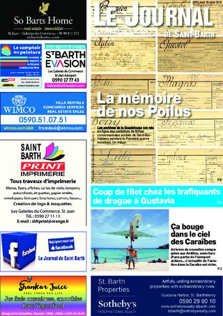 Journal de Saint-Barth N°1289 du 26/07/2018