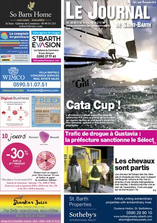 Journal de Saint-Barth N°1303 du 15/11/2018