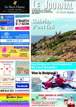 Journal de Saint-Barth N°1304 du 22/11/2018