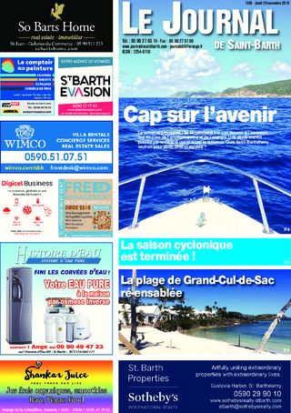 Journal de Saint-Barth N°1305 du 29/11/2018