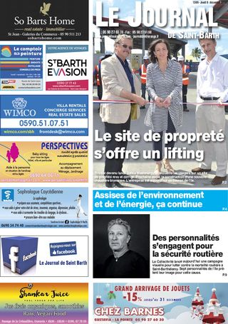 Journal de Saint-Barth N°1306 du 06/12/2018