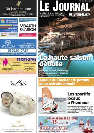 Journal de Saint-Barth N°1308 du 20/12/2018