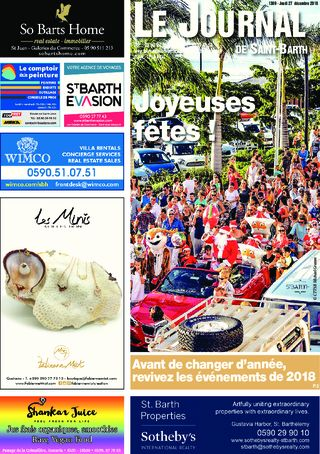 Journal de Saint-Barth N°1309 du 27/12/2018