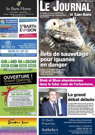 Journal de Saint-Barth N°1311 du 17/01/2019