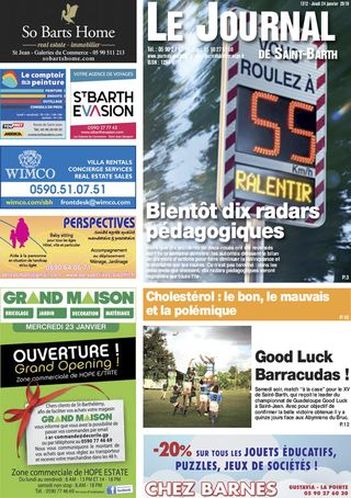 Journal de Saint-Barth N°1312 du 24/01/2019