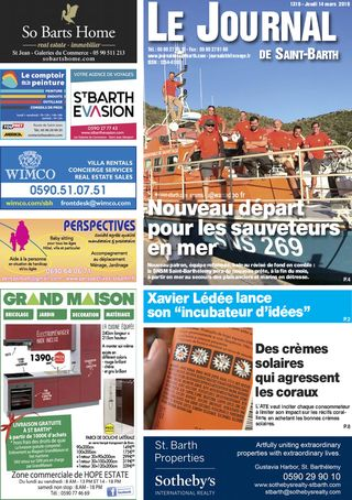 Journal de Saint-Barth N°1319 du 14/03/2019