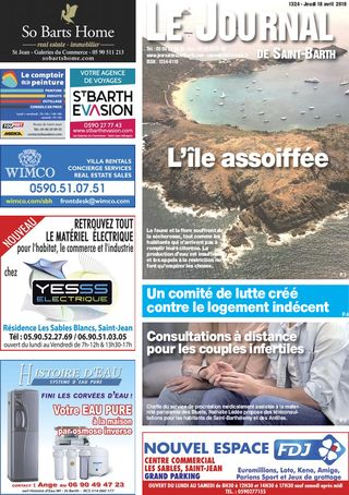 Journal de Saint-Barth N°1324 du 18/04/2019