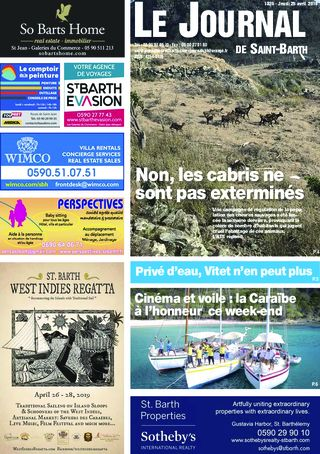 Journal de Saint-Barth N°1325 du 25/04/2019