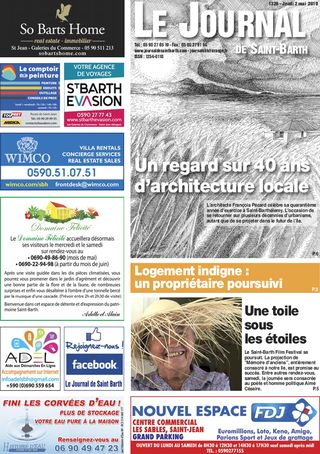 Journal de Saint-Barth N°1326 du 02/05/2019