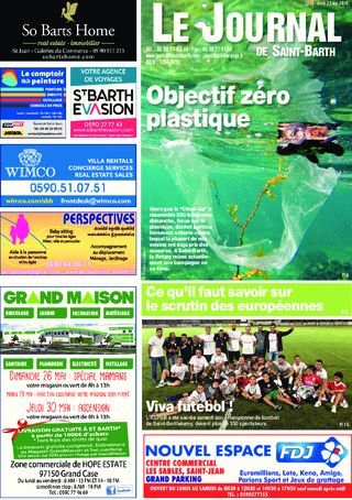 Journal de Saint-Barth N°1329 du 23/05/2019
