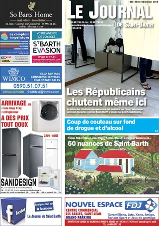 Journal de Saint-Barth N°1330 du 29/05/2019