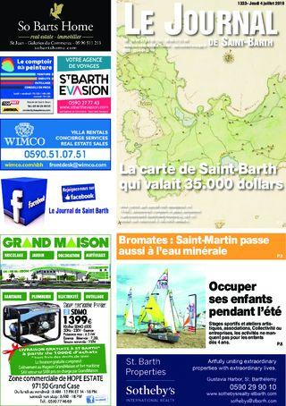Journal de Saint-Barth N°1333 du 04/07/2019