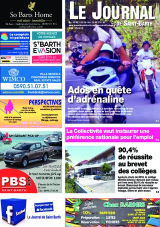 Journal de Saint-Barth N°1334 du 11/07/2019