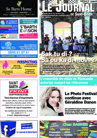 Journal de Saint-Barth N°1336 du 25/07/2019