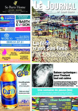 Journal de Saint-Barth N°1338 du 15/08/2019