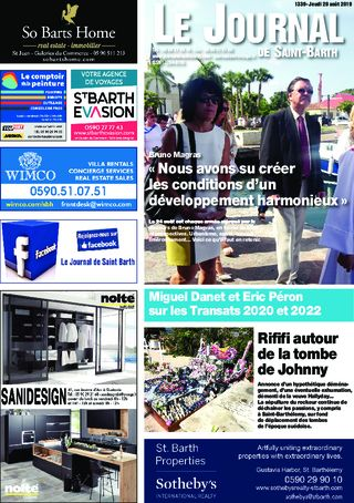 Journal de Saint-Barth N°1339 du 29/08/2019