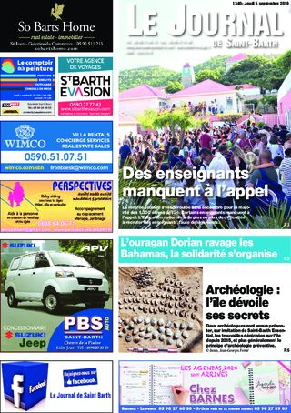 Journal de Saint-Barth N°1340 du 05/09/2019