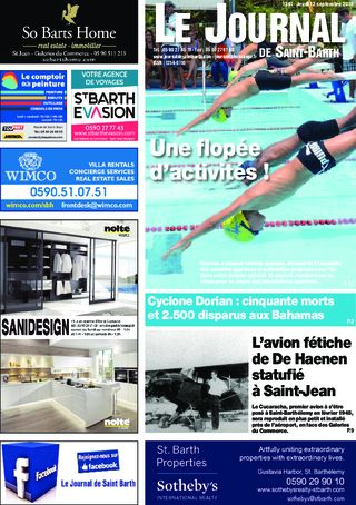 Journal de Saint-Barth N°1341 du 12/09/2019