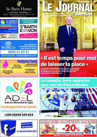 Journal de Saint-Barth N°1342 du 19/09/2019