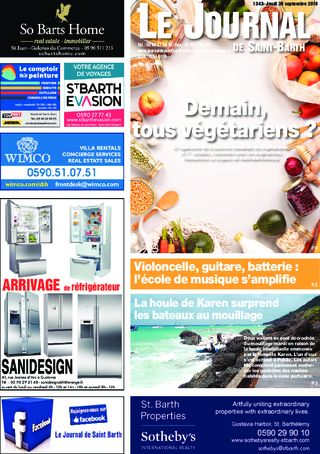 Journal de Saint-Barth N°1343 du 26/09/2019