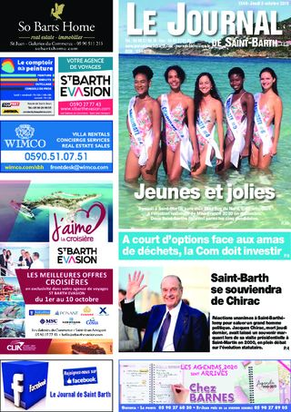 Journal de Saint-Barth N°1344 du 03/10/2019
