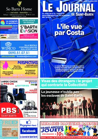 Journal de Saint-Barth N°1346 du 17/10/2019