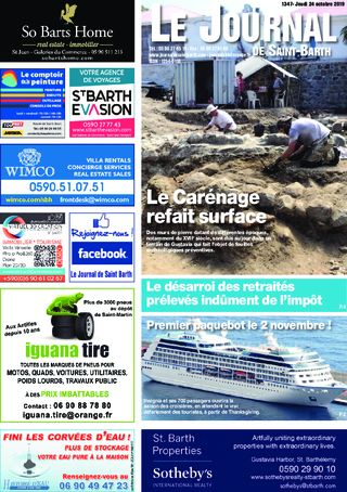 Journal de Saint-Barth N°1347 du 24/10/2019