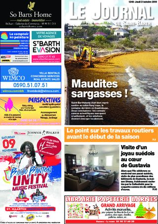 Journal de Saint-Barth N°1348 du 31/10/2019