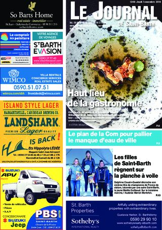 Journal de Saint-Barth N°1349 du 07/11/2019