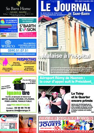 Journal de Saint-Barth N°1350 du 14/11/2019