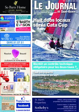 Journal de Saint-Barth N°1351 du 21/11/2019
