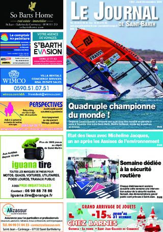 Journal de Saint-Barth N°1352 du 28/11/2019