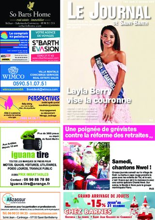Journal de Saint-Barth N°1354 du 12/12/2019