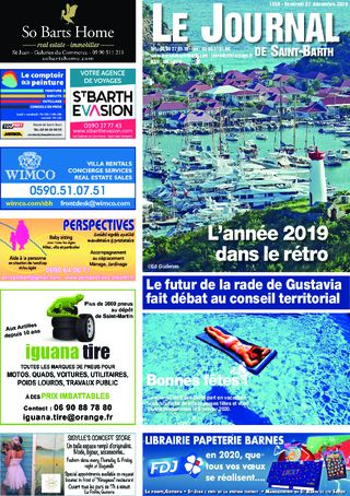 Journal de Saint-Barth N°1356 du 27/12/2019
