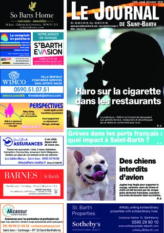 Journal de Saint-Barth N°1359 du 23/01/2020