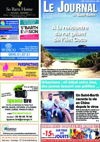 Journal de Saint-Barth N°1362 du 13/02/2020