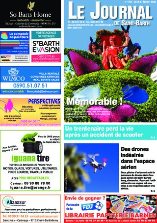 Journal de Saint-Barth N°1364 du 27/02/2020