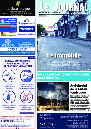 Journal de Saint-Barth N°1367 du 19/03/2020