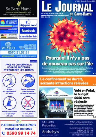 Journal de Saint-Barth N°1368 du 25/03/2020