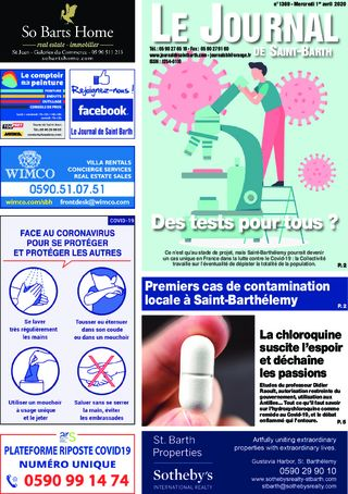 Journal de Saint-Barth N°1369 du 01/04/2020