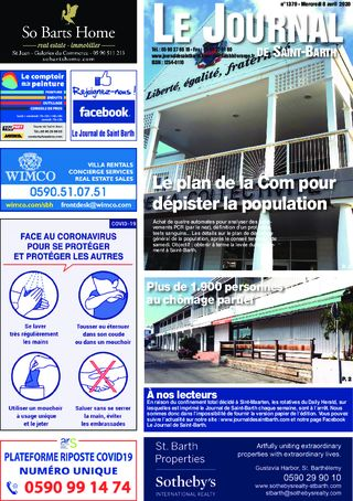 Journal de Saint-Barth N°1370 du 08/04/2020
