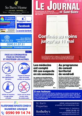 Journal de Saint-Barth N°1371 du 15/04/2020