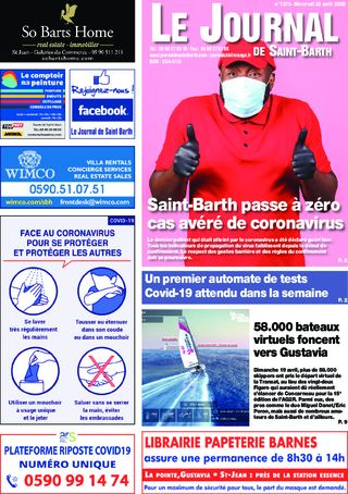Journal de Saint-Barth N°1372 du 22/04/2020