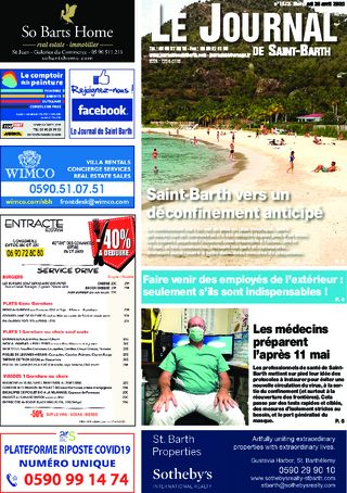 Journal de Saint-Barth N°1373 du 29/04/2020